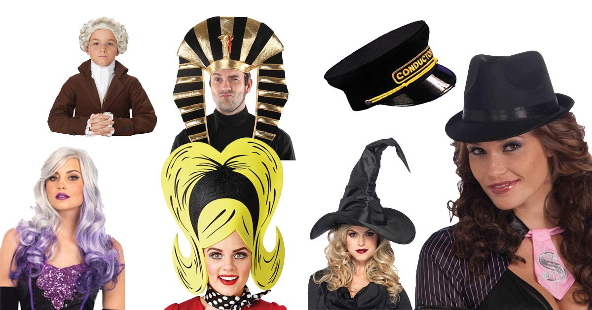 wigs & hats halloween